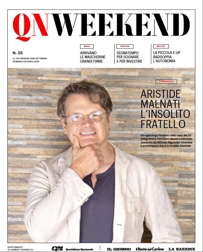 Copertina QN Weekend 26 Aprile 2020 Aristide Malnati
