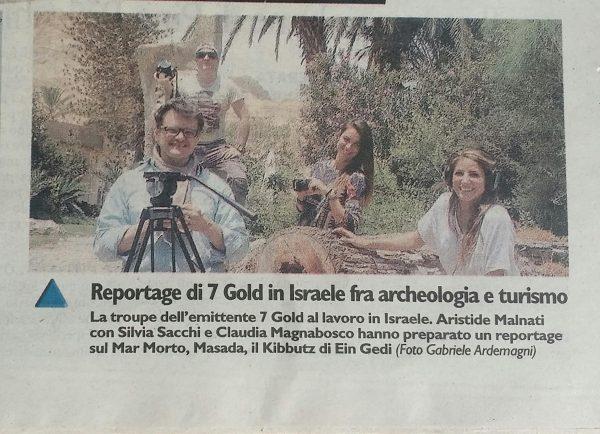 Il Giorno 2015 Backstage riprese in Israele