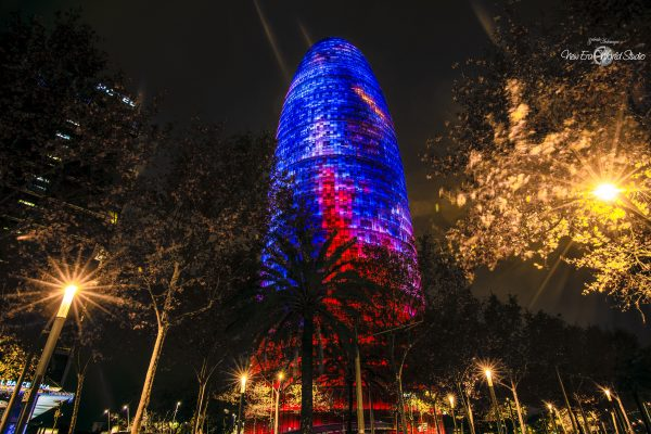 Agbar Tower Barcelona Spain Night 1 Foto by Gabriele Ardemagni