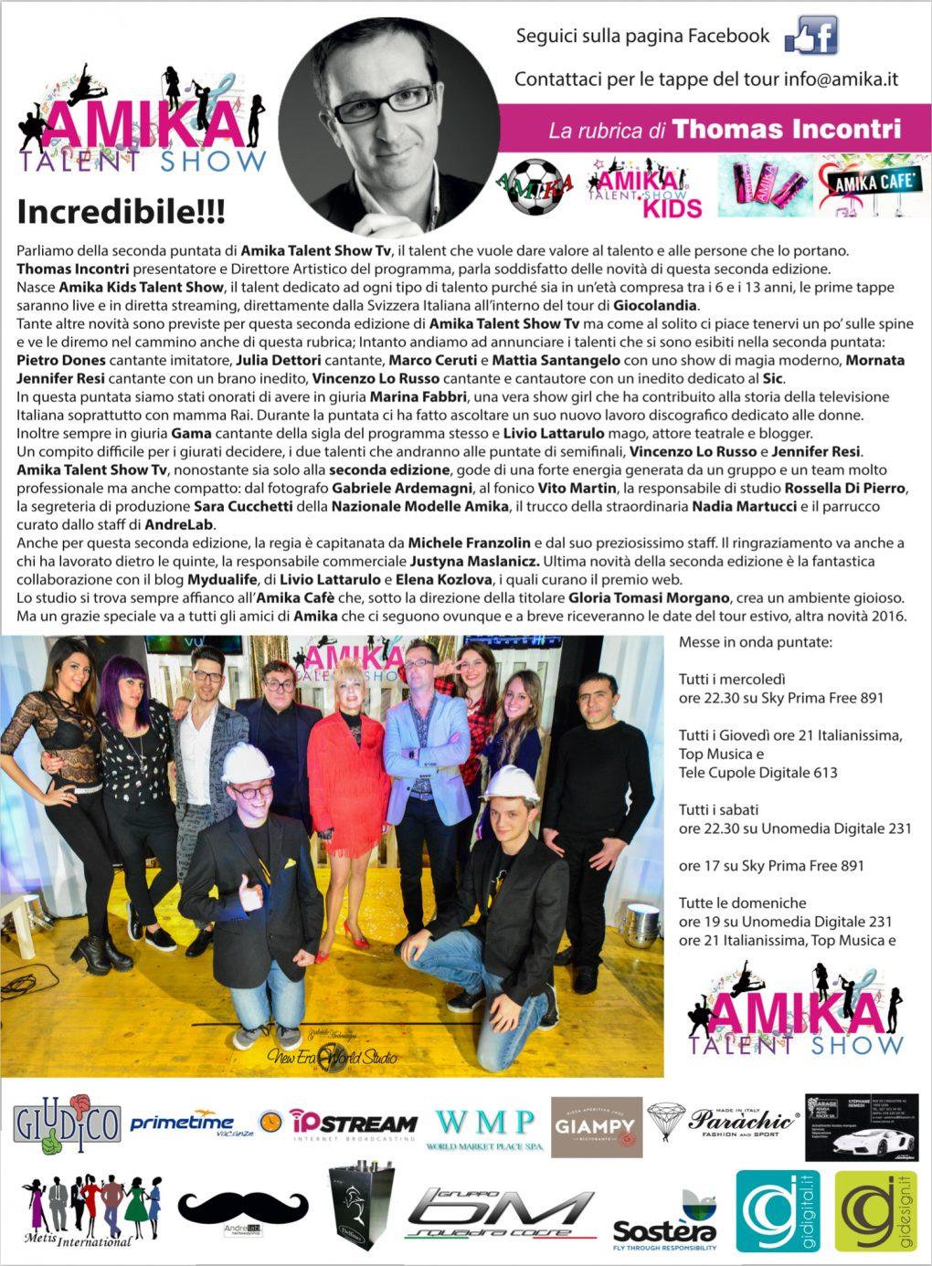 Vip 2016 Amika Talent Show 2 Foto by Gabriele Ardemagni