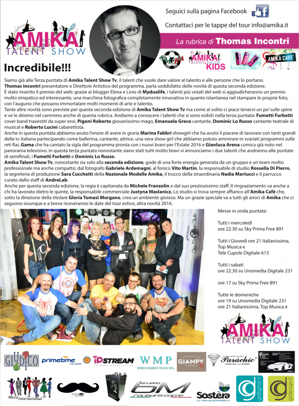Vip 2016 Amika Talent Show 3 Foto by Gabriele Ardemagni