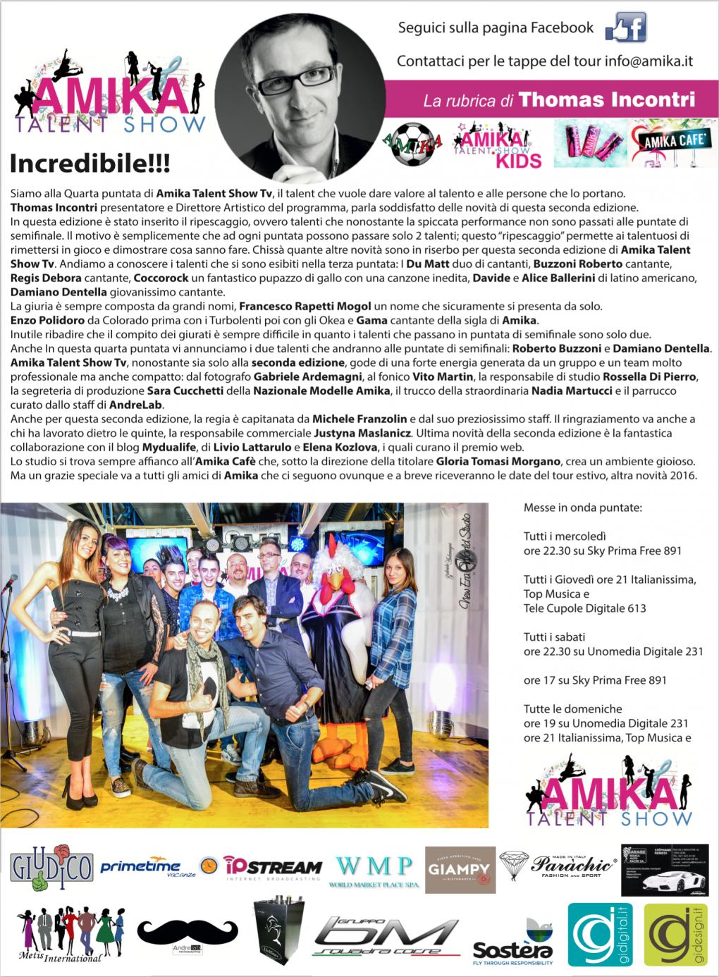 Vip 2016 Amika Talent Show 4 Foto by Gabriele Ardemagni