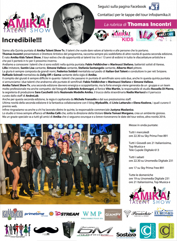Vip 2016 Amika Talent Show 5 Foto by Gabriele Ardemagni