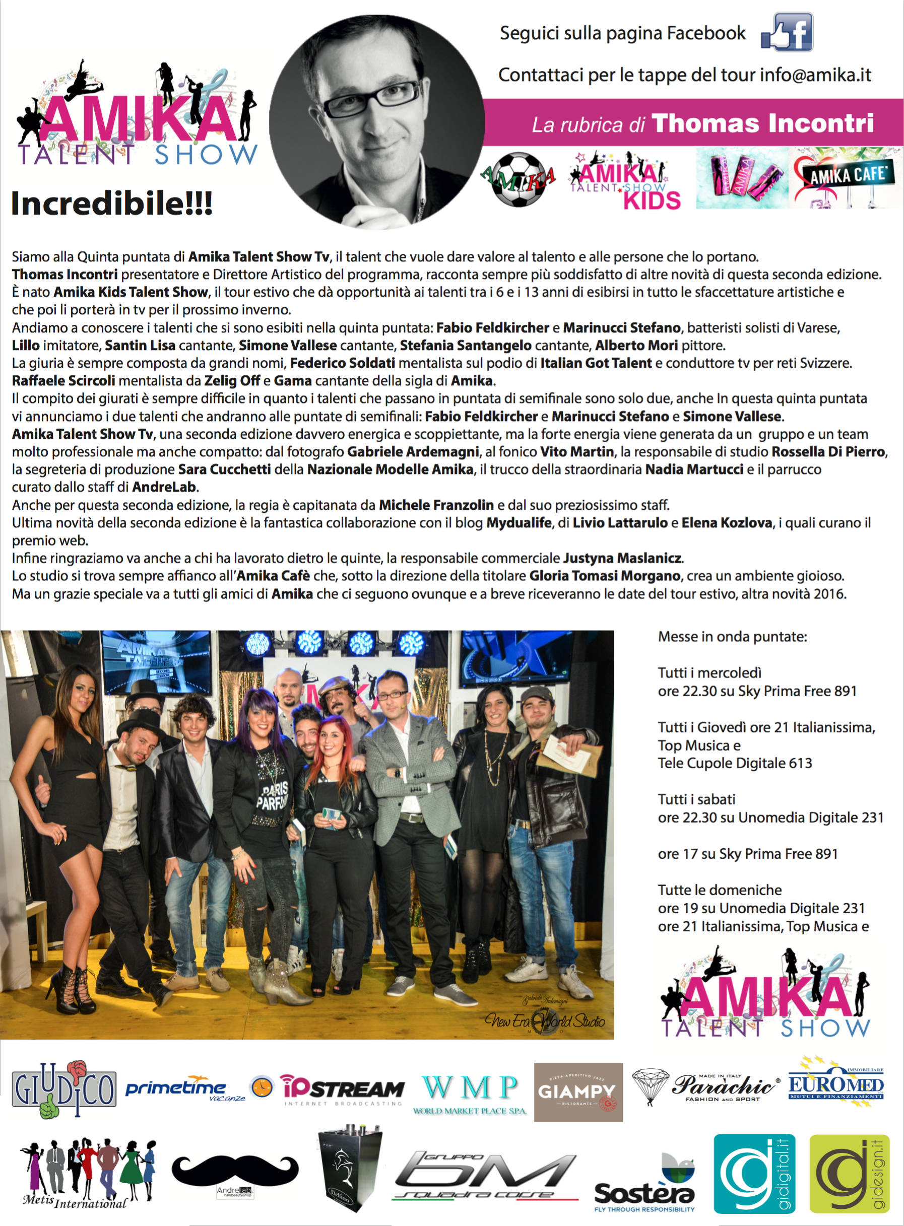 Vip 2016 Amika Talent Show 5 Foto by Gabriele ArdemagniVip 2016 Amika Talent Show 5 Foto by Gabriele Ardemagni