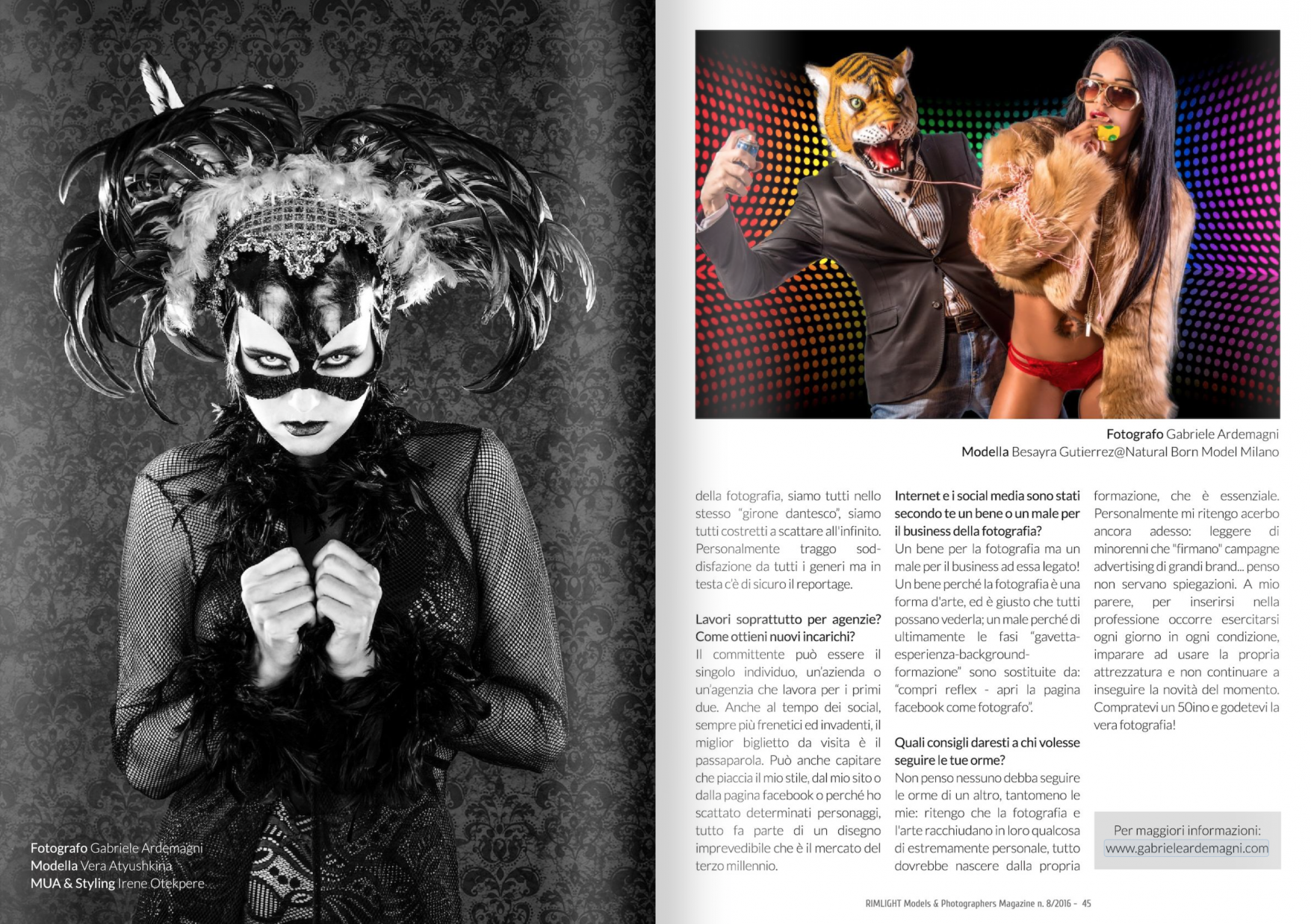Schermata Rimlight Magazine #8 2016 a beautiful interview of me and my work-06-14 alle 11.08.44