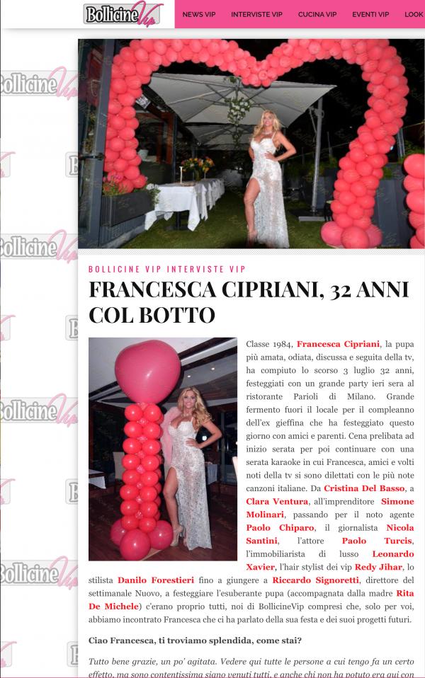 Compleanno Francesca Cipriani Foto Gabriele Ardemagni