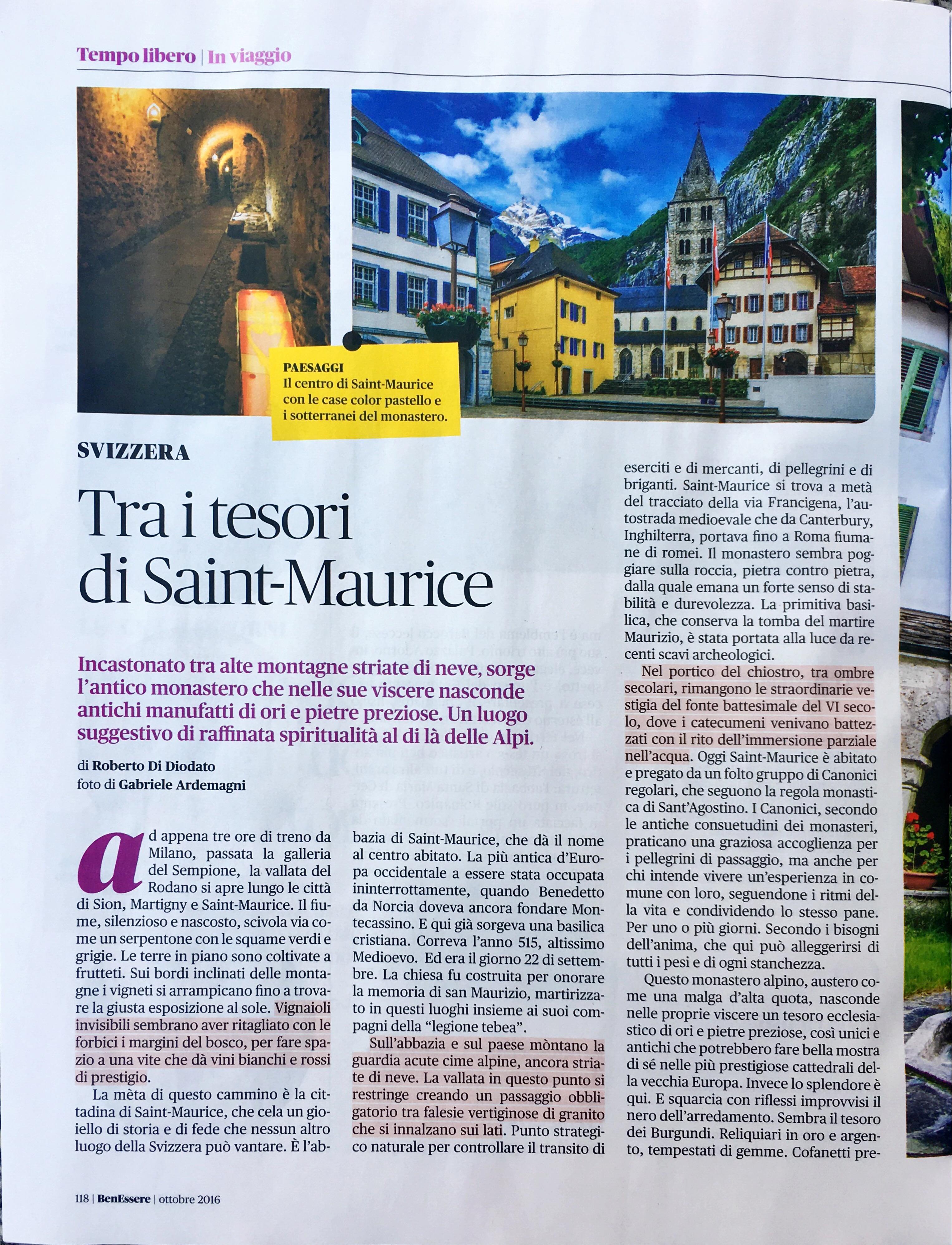 Benessere #10 2016 Ottobre - St. Maurice Foto by www.gabrieleardemagni.com