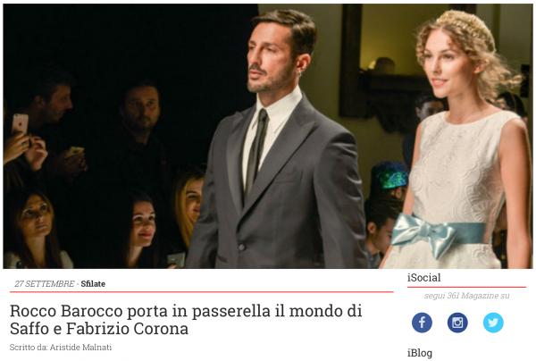 Rocco Barocco porta in passerella il mondo di Saffo e Fabrizio Corona