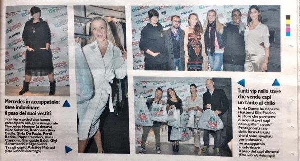 Il Giorno 18/10/2016 Fashion Charity Event at Kilo Fashion Via Dante Milano with players of Basketartisti
