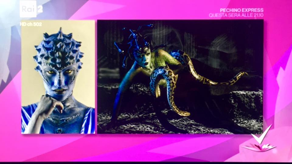 Sexy Alien & Medusa Project on Italian National Television RAIDUE Detto Fatto Halloween Special - Tutorial of the Halloween 2016