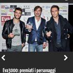 Premio Eva 3000 su tgcom.it Pierpaolo Pretelli Beppe COnvertini Alex Belli Foto by www.gabrieleardemagni.com