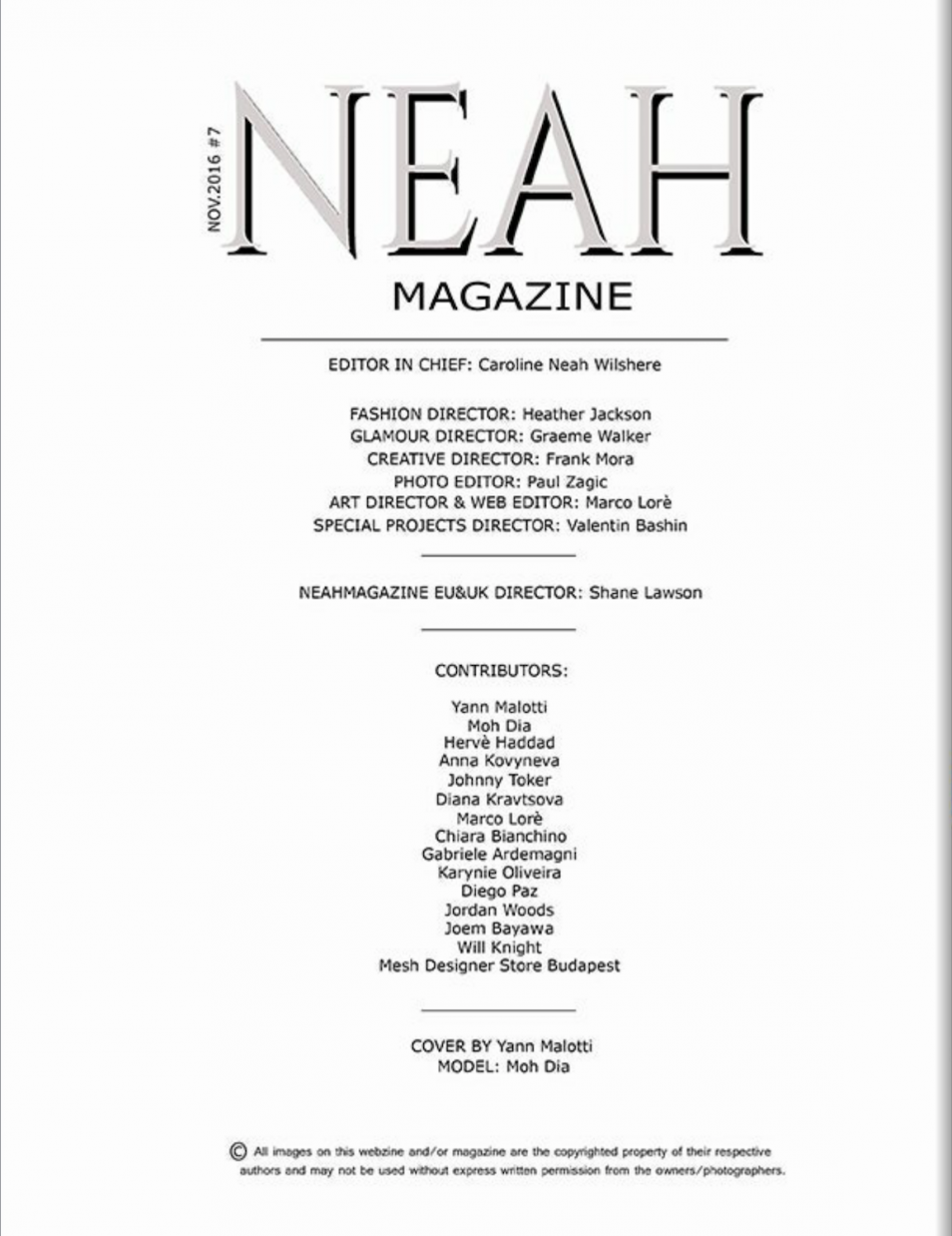 Neah Magazine #2 Dec/Jan 2016/2017 New Zealand/Australia