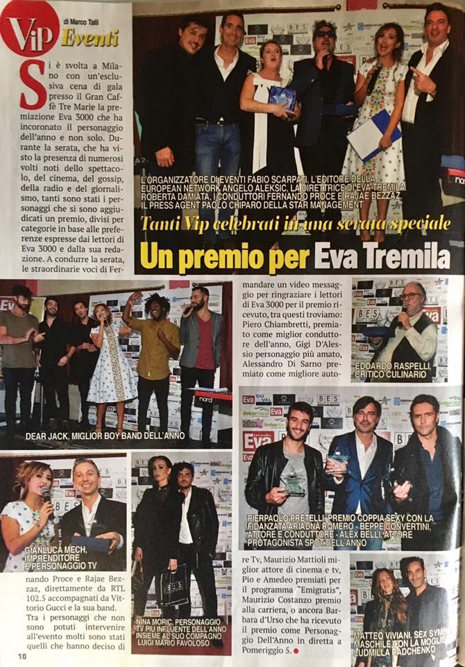 Vip #879 2 Dic 2016 Premio Eva 3000 Foto www.gabrieleardemagni.com