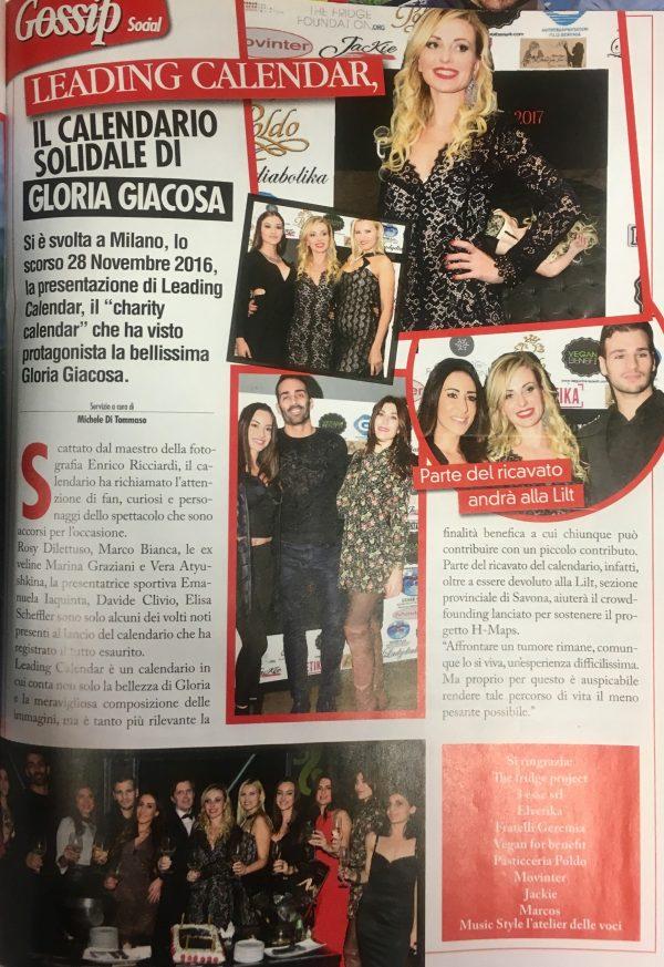 Tutto Gossip Febbraio 2017 Calendario Gloria Giacosa