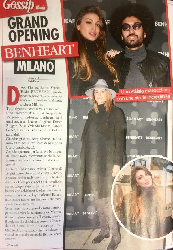 Tutto Gossip #2 Febbraio 2017 - Benheart Milano #cristinabuccino #silviasalvemini