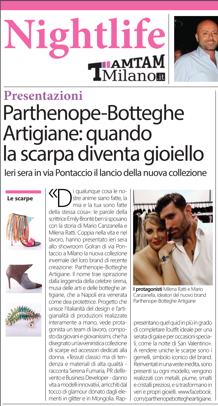 Parthenope Botteghe Artigiane advertising by www.gabrieleardemagni.com