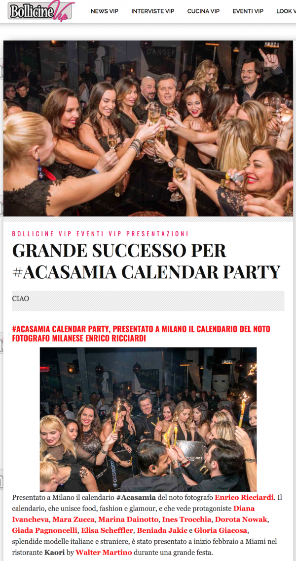 Calendario #acasamia photo: www.gabrieleardemagni.com