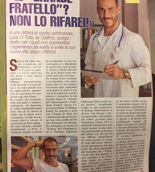 Settimanale Tutto Luca di Tolla Photo www.gabrieleardemagni.com