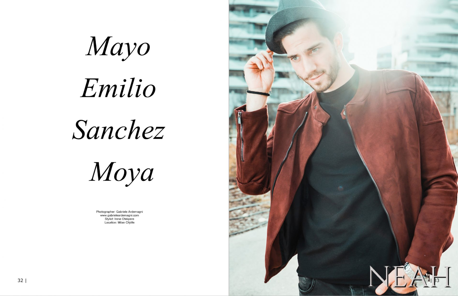 Neah Magazine Oceania #10 May 2017 Photo: www.gabrieleardemagni.com Model: Mayo Emilio Sanchez Moya Mua e Styling: Irene Otekpere Video: Black Diamond Creations