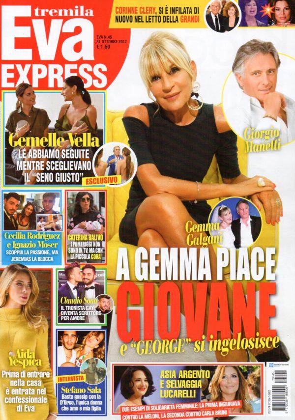 Eva Tremila Express 45 31 Ottobre 2017 Copertina Gemelle Vella 1