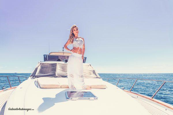 Klodiana Koci Yacht Principe Forte dei Marmi Copricostume Cotton