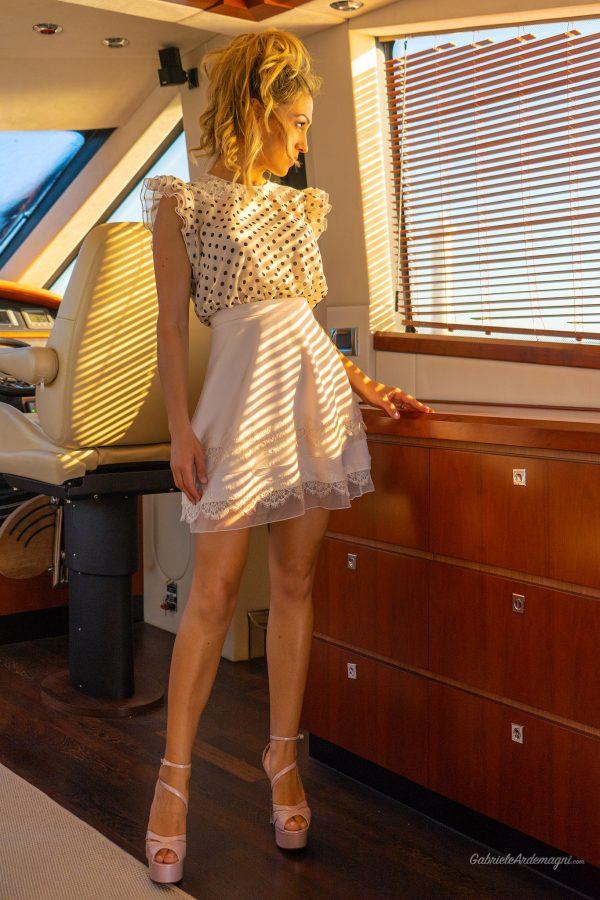 Klodiana Koci Yacht Principe Forte dei Marmi  scarpe Andrea Grivaldi