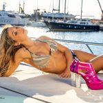 DSC07493-Klodiana Koci Yacht Principe Forte dei Marmi costume Cotton Club scarpe Andrea Grivaldi Sign