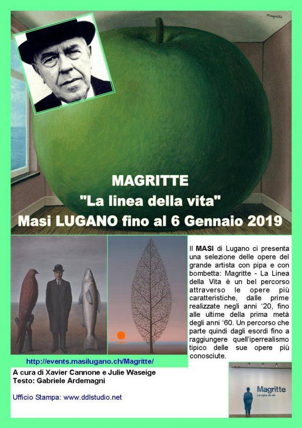Miraflores Press #108 Ottobre 2018 Testo www.gabrieleardemagni.com Mostra: Magritte la linea della vita - Masi Lugano - CH