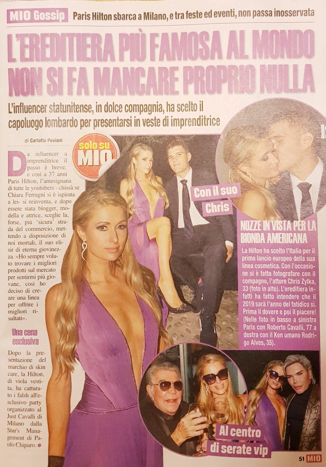 Paris Hilton Just Cavalli Milano Italia foto Gabriele Ardemagni settimanale Mio