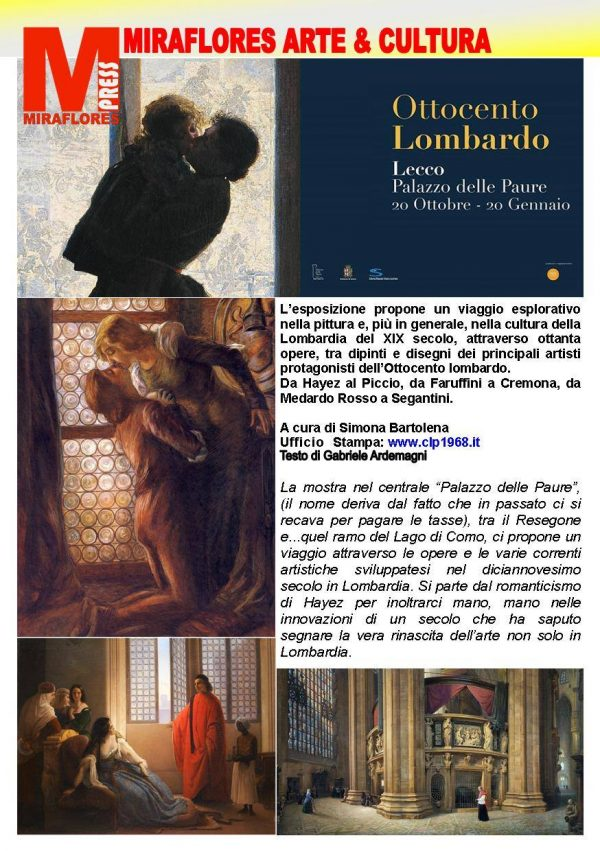 Ottocento in Lombardia Miraflores Press 110 Dicembre 2018
