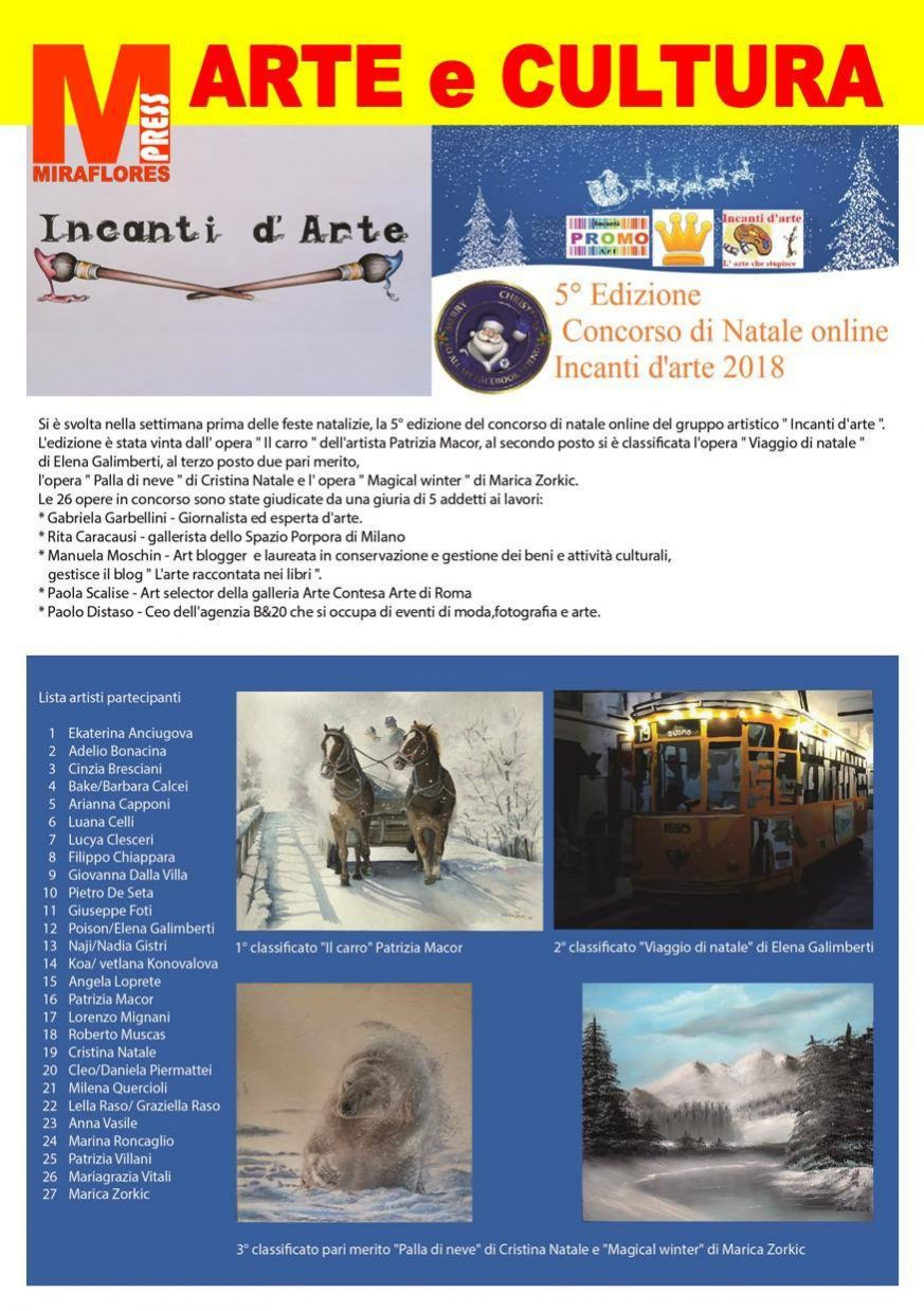 Incanti d'arte Miraflores Press 111 Gennaio 2019