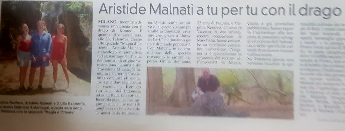 La Prealpina Gennaio 2019 Komodo