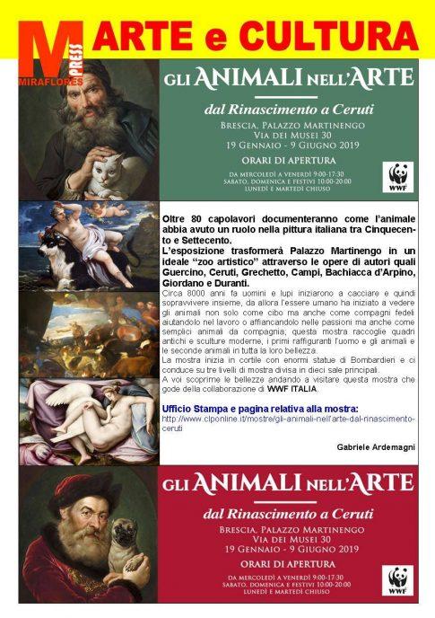 Miraflores Press #112 Febbraio 2019 Gli animali nell'arte Brescia