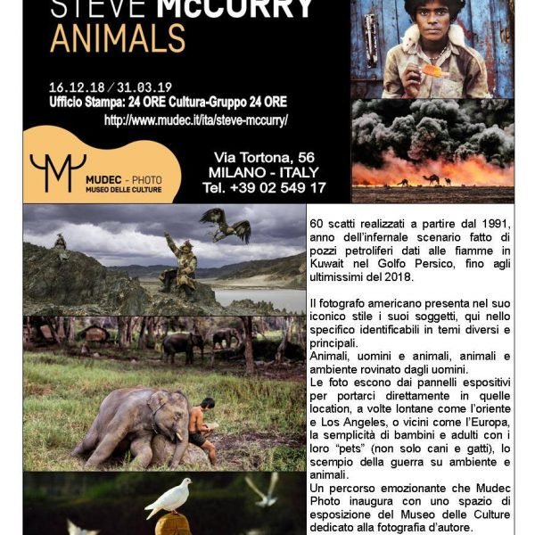 Miraflores Press #112 Febbraio 2019 Steve McCurry Animals Mudec