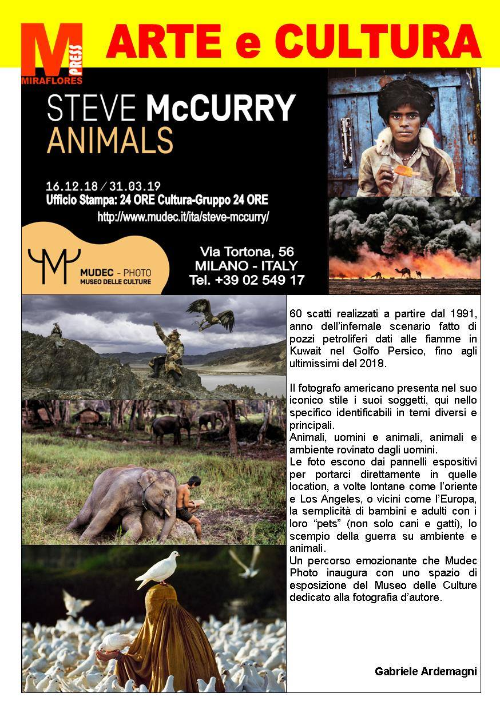 Miraflores Press #112 Febbraio 2019 Steve McCurry Animals Mudec