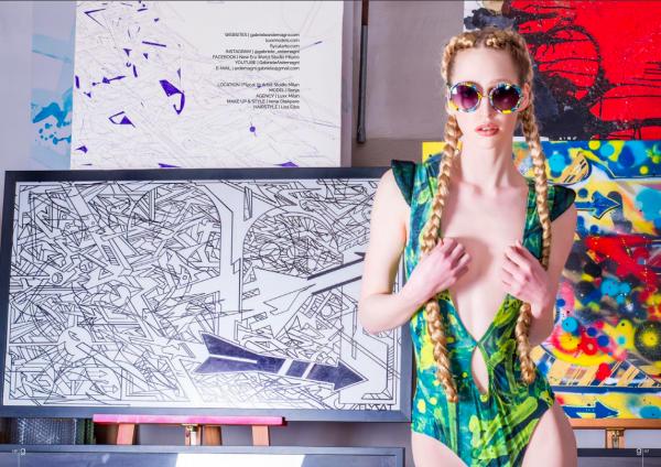 Italian graffiti gabriele ardemagni fashion art editorial for glamour affair vision