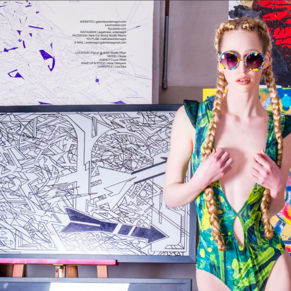 Italian graffiti gabriele ardemagni fashion art editorial for glamour affair vision